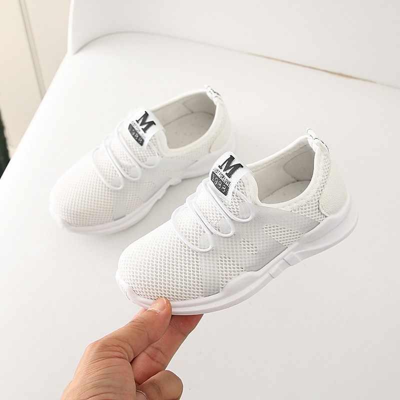 Çocuk ayakkabıları bebek çocuk bebek Boys kız çocuklar için ayakkabı mektup örgü spor koşu kız Sneakers rahat ayakkabılar Tenis Infantil