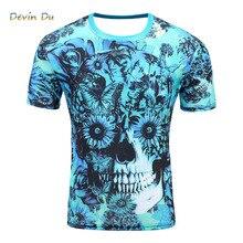 men's short sleeve polyester o-neck t-shirt punk  thinkers/skeleton print t shirt men t shirt m-4xl 2017  top tees