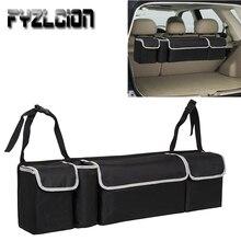 цены Car Trunk Organizer Adjustable Backseat Storage Bag Net High Capacity Multi-use Oxford Automobile Seat Back Organizers Universal