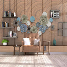 3d new Chinese style creative bookshelf stereo background wall professional manufacturing mural photo wallpaper