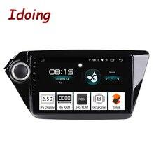 "Idoing 9 ""4G   64G 2.5D IPS מסך אוקטה Core 1 דין רכב Android8.0 רדיו נגן Fit kia Ria K2 2012-2016 ניווט GPS וglonass"