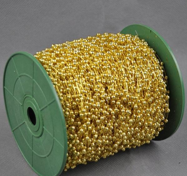 Venta caliente en La Acción! 120 metros/lote 3 MM metallic GOLD ...