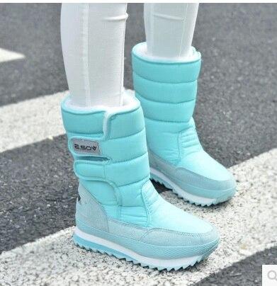 New Women Winter Boots Waterproof Slip-resistant Thermal Flat Heel Snow Boots 10 Colors Street Price