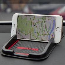 AMG 3D GPS Stickers Anti-Slip Car Phone Mat Car Accessories For Mercedes Benz AMG CLS GLK CLK E-Class C-Class Car styling