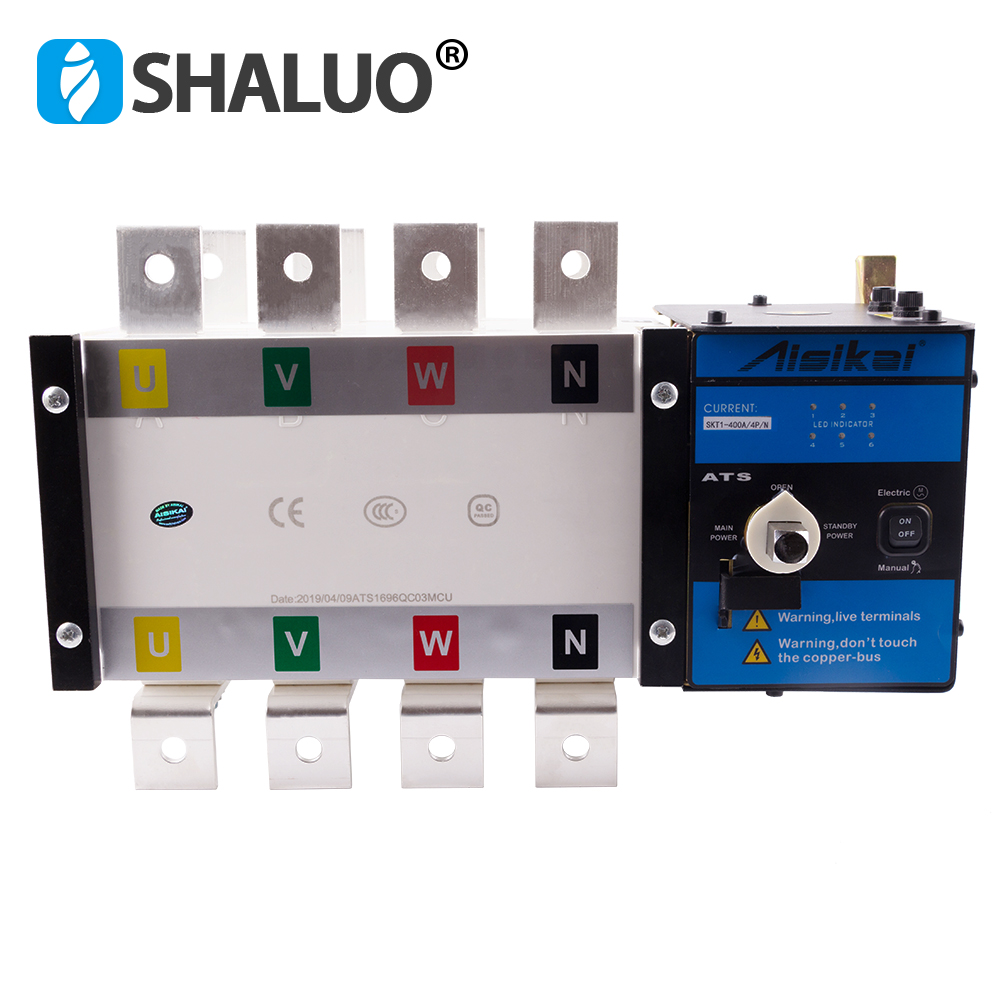 Aisikai 400A 4P ATS Genset Automatic Transfer Switch Diesel Generator Set dual power changeover controller for generator parts Aisikai 400A 4P ATS Genset Automatic Transfer Switch Diesel Generator Set dual power changeover controller for generator parts