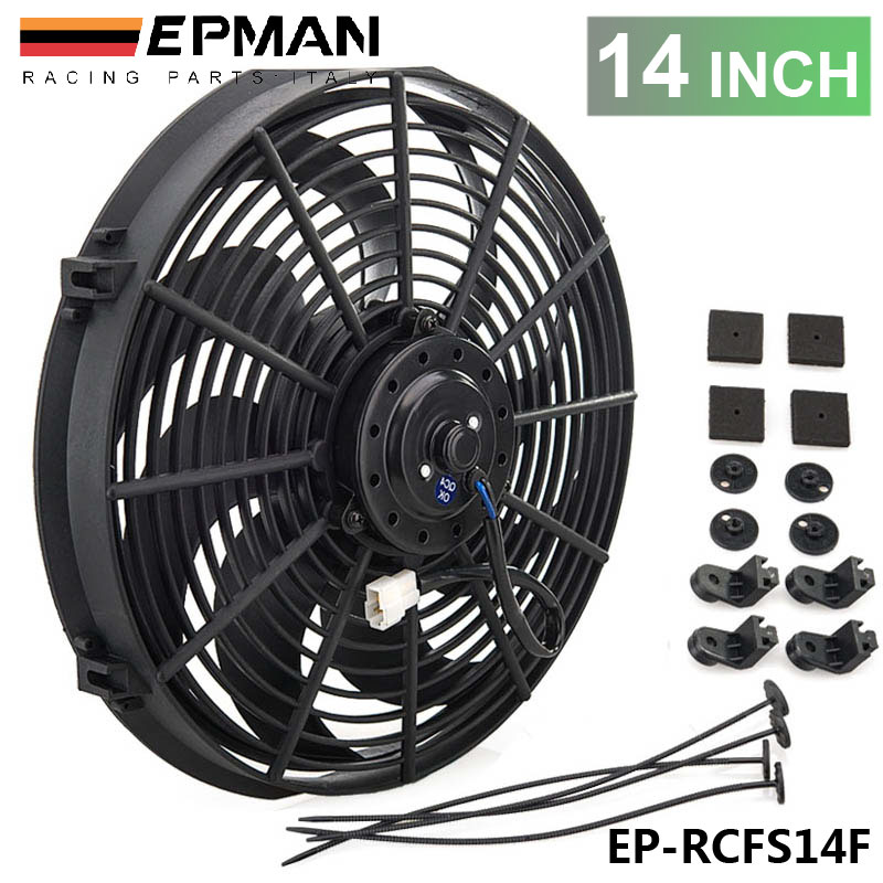 16 Inch American Volt Reversible Electric Engine Fan 12V Radiator Condenser Cooler High Performance Motor Air Flow Power CFM