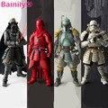 [Bainily] 6 Estilo de Alta Calidad PVC de Star Wars Darth Vader Storm Trooper Boba Fett Cuard Real Figura de Acción Juguetes Regalo de colección