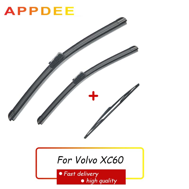 APPDEE Wiper Front Rear Wiper Blades Set For <font><b>Volvo</b></font> <font><b>XC60</b></font> 2012-2017 <font><b>2016</b></font> 2015 Windshield Windscreen 26