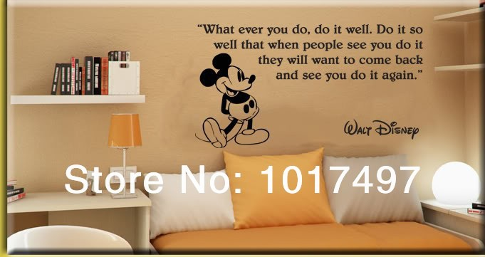 Aliexpress com   Buy hot selling Mickey mouse kids room decor wall stickers Mickey  Mouse wall quote vinyl wall art decals free shipping K2054 from Reliable. Aliexpress com   Buy hot selling Mickey mouse kids room decor wall
