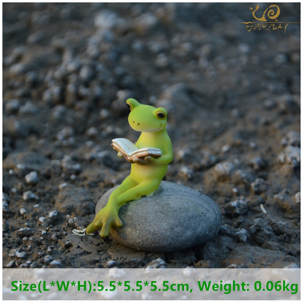 Everyday Collection Animal Frog Fairy Garden Figurines Micro Landscape Home Decoration Accessories Birthday Gift Souvenirs