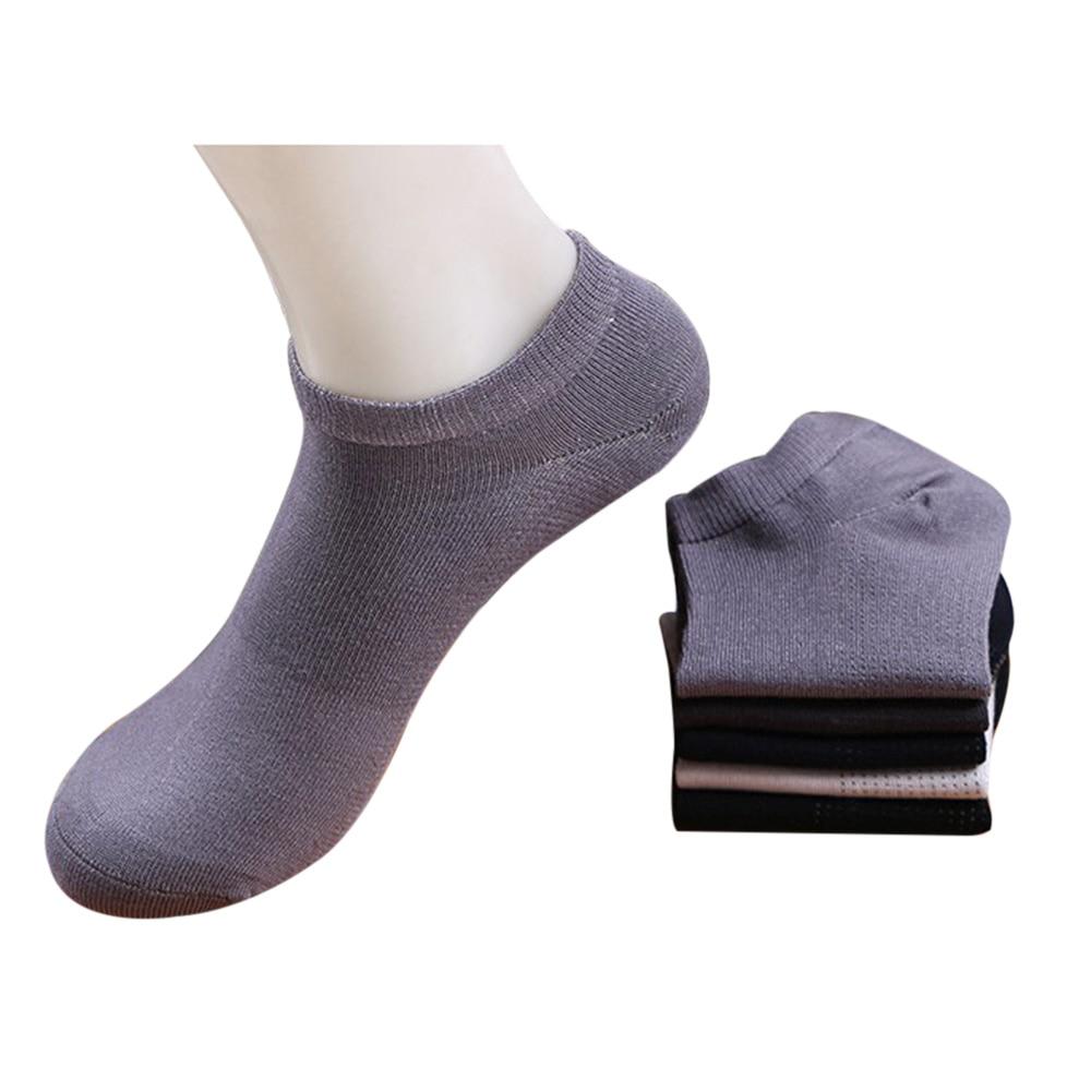 5 Pairs Copper ION Deodorization Men slipper socks Bamboo fiber socks for men Breathable Soft casual socks for men 5 colors