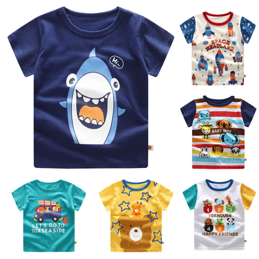 for 0-5 Years,Toddler Kids Baby Boys Girls Spring Cartoon Print Tee Tops T-Shirt Casual Summer Clothes