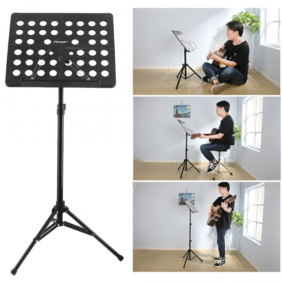 Flanger Folding Lightweight Music Stand ABS Sheet Aluminum Alloy Tripod Stand Holder Height Adjustable with Carrying Cotton BagFlanger Folding Lightweight Music Stand ABS Sheet Aluminum Alloy Tripod Stand Holder Height Adjustable with Carrying Cotton Bag