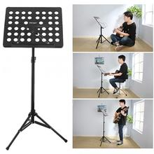 Flanger Folding Lightweight Music Stand ABS Sheet Aluminum Alloy Tripod Stand Holder Height Adjustable with Carrying Cotton Bag