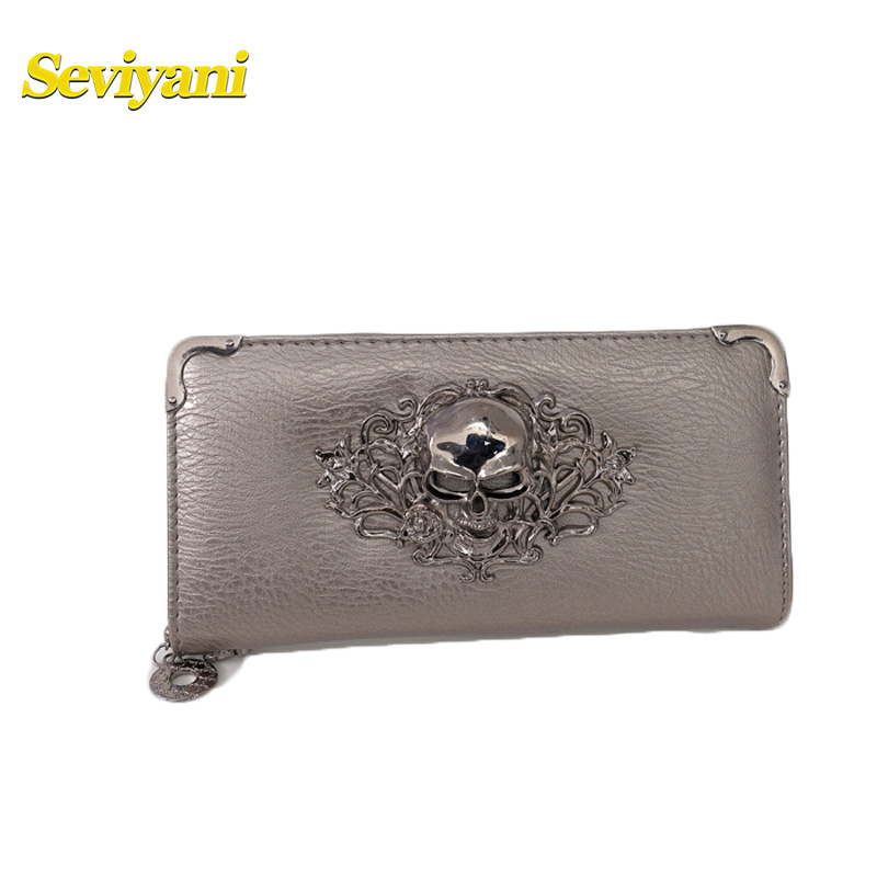 Seviyani Wallet Women PU Leather Wallets Metal Oblique Buckle Design Storage of Mobile Phone Card and Money Mini Bag for Women