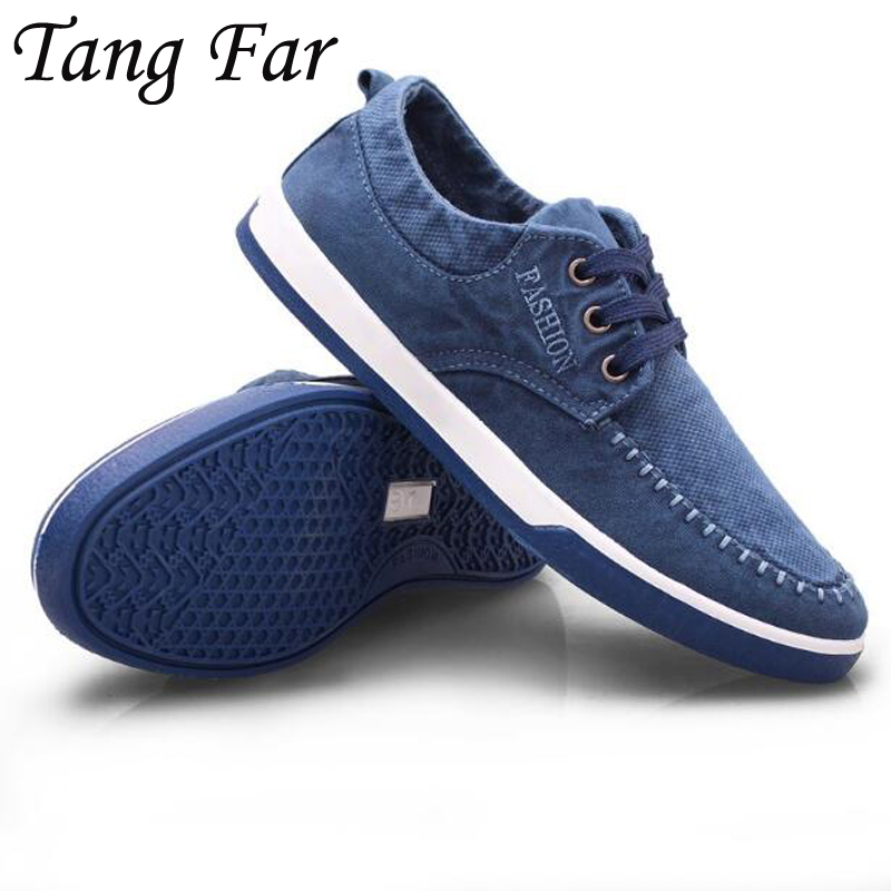 Cheap New Men's Shoes Washed Denim Canvas Shoes Fashion Casual Shoes Blue Grey Breathable Loafers Solid Color dc shoes ремень dc shoes chinook washed indigo fw17 one size