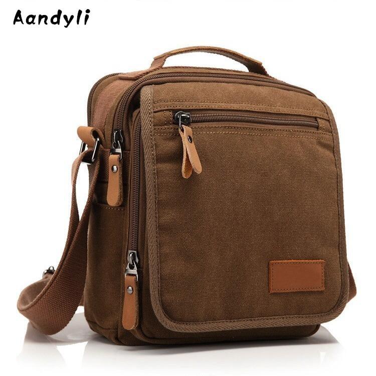 Fashion Men Crossbody Bag Canvas Handbags Men's shoulder bags Ipad Messenger bag