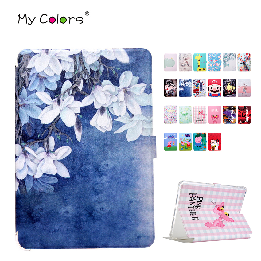 Case Tab S3 9.7 SM T820 T825 Smart Cover Print Slim PU Leather Cover Stand Shell Case For Samsung Galaxy Tab S3 T820 9.7