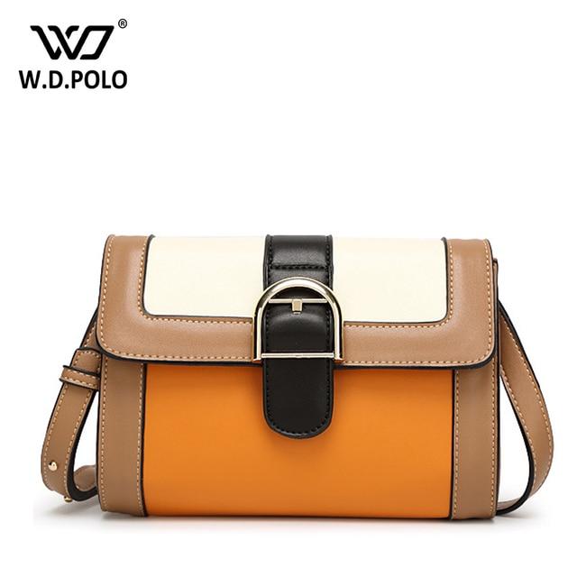 Wdpolo Pu Satchels Color Combine Women Handbags New Design Famous Star Gets Shoulder Bag Tv Show