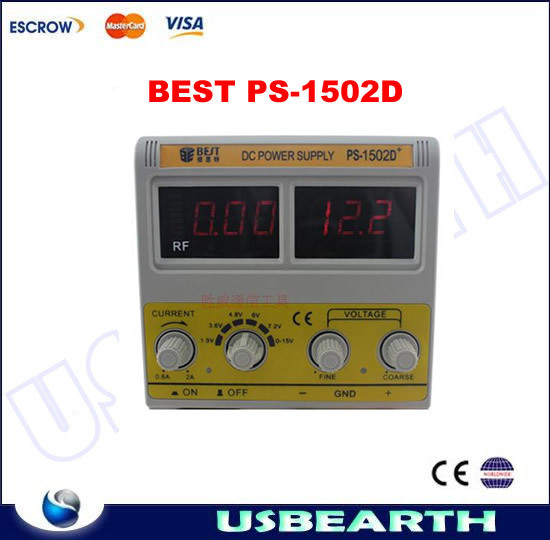 BEST PS-1502D single channel 0-15V/0-2A Digital DC POWER SUPPLY, for Mobile phone repair. BEST PS 1502D