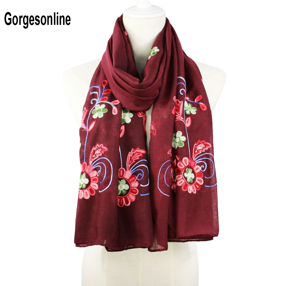 High fashion 100% Viscose light weight   Scarf     wrap   shawls embroidery handmanship   scarf