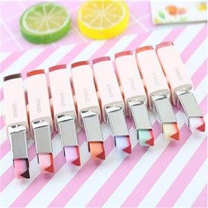Image 5 - 8 Color Gradient Color Korean Bite Lipstick V Cutting Two Tone Tint Silky Moisturzing Nourishing Lipsticks Balm Lip Cosmetic New