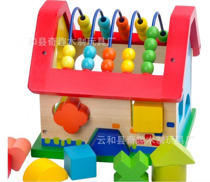 Baby wooden geometric house blocks/ 12 month above baby early learning educational toys, Kids Child wisdom room learning shapes new original kyocera fuser 302j193050 fk 350 e for fs 3920dn 4020dn 3040mfp 3140mfp