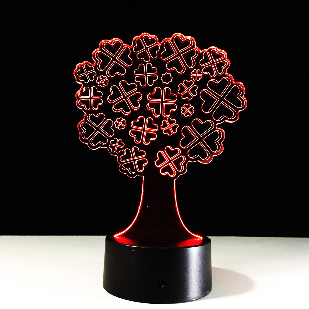 3D LED Lamp 7 Color Lucky Tree Touch Led USB Table Lampara Lampe Led Night Lamps for Kids Baby Sleeping Nightlight Projector