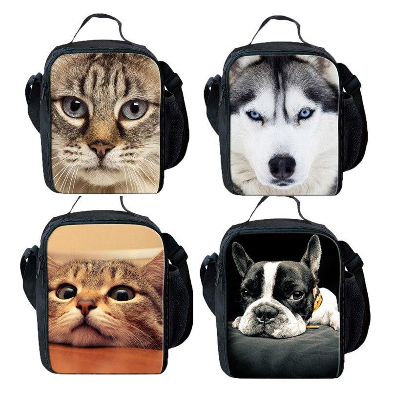 2018 Heißer Verkauf Mittagessen Taschen 3d Animal Print Taschen Studenten Schule Warm Halten Mittagessen Box Schulter Wärmebeutel Koeltas Termica T