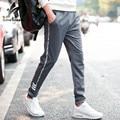 2016 Sweatpants Pants Men Fashion Autumn Slim Mens Letters Printed Large Size Trousers Casual Pantalon Homme Brand Clothing LW73