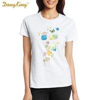 Novelty Funny Cute Bubble Animals Design T Shirt Fashion Women Girl T Shirt Summer High Quality