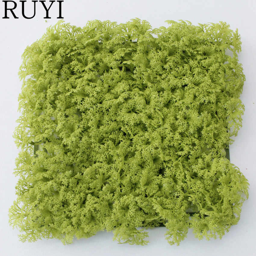 Simulated Plant Block Moss Green Plants Artificial Flowers Arranged Air Grass Imitation Mossy Plant Wall Photography Decoration