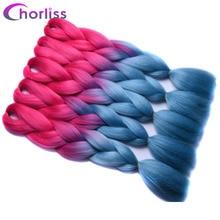 Chorliss 24″Jumbo Braids Ombre Braiding Hair Bundles Synthetic Crochet Hair Extensions High Temperature Fiber Brands
