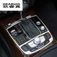 Carbon Fiber Gear Shift Panel Decoration Cover Trim Automobile Accessories Water Cup Holder Panel Decal 3D