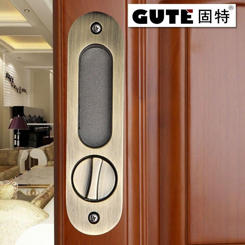GUTE Generic 160mm Bathroom Shift Locks Wood Sliding Door Dedicated Hook  Lock Balcony Sliding Door Lock For 35 45MM Thickness In Doorknobs From Home  ...