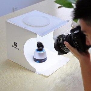 Image 3 - Tragbare Falten Leuchtkasten Fotografie Studio Softbox LED Licht Weichen Box fotografia für iPhone HTC DSLR Kamera Foto Hintergrund