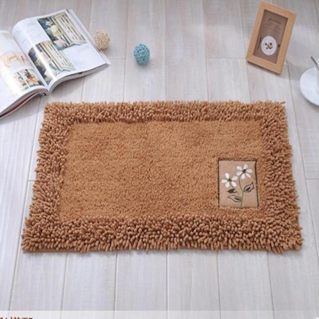 Chenille Cotton Door Mat Soft Water Absorption Floor Area Rug Non Slip  Small Carpet Kitchen