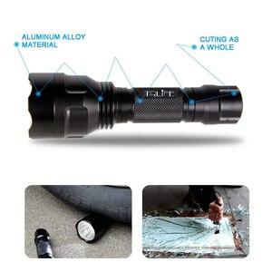 Image 3 - 6000 لومينز 1 وضع C8 مصباح ليد جيب 5 طرق التكتيكية مشاعل T6/L2 الشعلة ضوء فلاش مقاوم للماء بنسبة 18650 بطارية قابلة للشحن