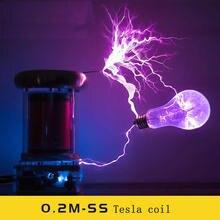 Bobine Tesla à semi conducteurs 0.2M/bobine Tesla de musique/tempête de foudre