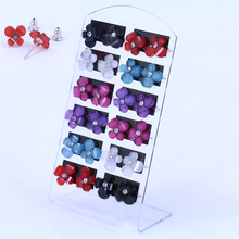 Factory Small Earrings 12pairs Packing Set Acrylic Crystal Flower Star Butterfly Resin Ear Stud Fashion Jewelry 12pairs
