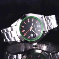 Relogio masculino 럭셔리 브랜드 전체 아날로그 디스플레이 날짜 남자 쿼츠 시계 비즈니스 시계 남자 시계|수정 시계|시계 -