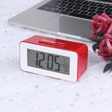 JULY'S песня цифровой светодиодный будильники часы для студента с неделю отсрочка термометр часы электронные настольные календари Настольный ЖКД таймер