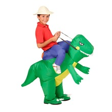 Toys Costume Dino Rider Kids Outfit Dress Purim T-Rex Blow-Up Halloween-Dragon Cosplay