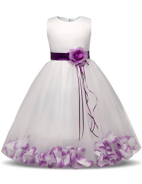 Платье с цветочным узором для девочек с цветами/Ленты для платья с юбкой из тюля для девочек День рождения свадебные торжественным детская одежда для девочек платье для детей