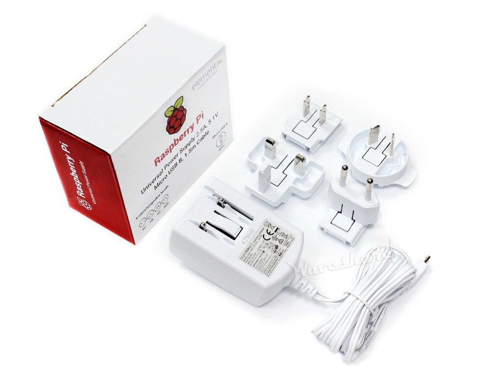Offizielle Raspberry Pi Universal Netzteil Austauschbare köpfe Adapter Ladegerät unterstützung EU/UK/US/AUS Micro USB stecker
