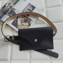 NEW-New women waist bag multifunction fashion phone bags small belt handbag(Black)