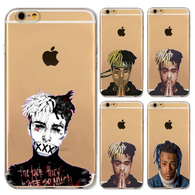 Xxxtentacion Transparent Soft TPU Silicone Phone Case Cover Fundas Coque For iphone 6 S 7 7Plus 6S 6Plus 8 8Plus X 5 S 5S SE