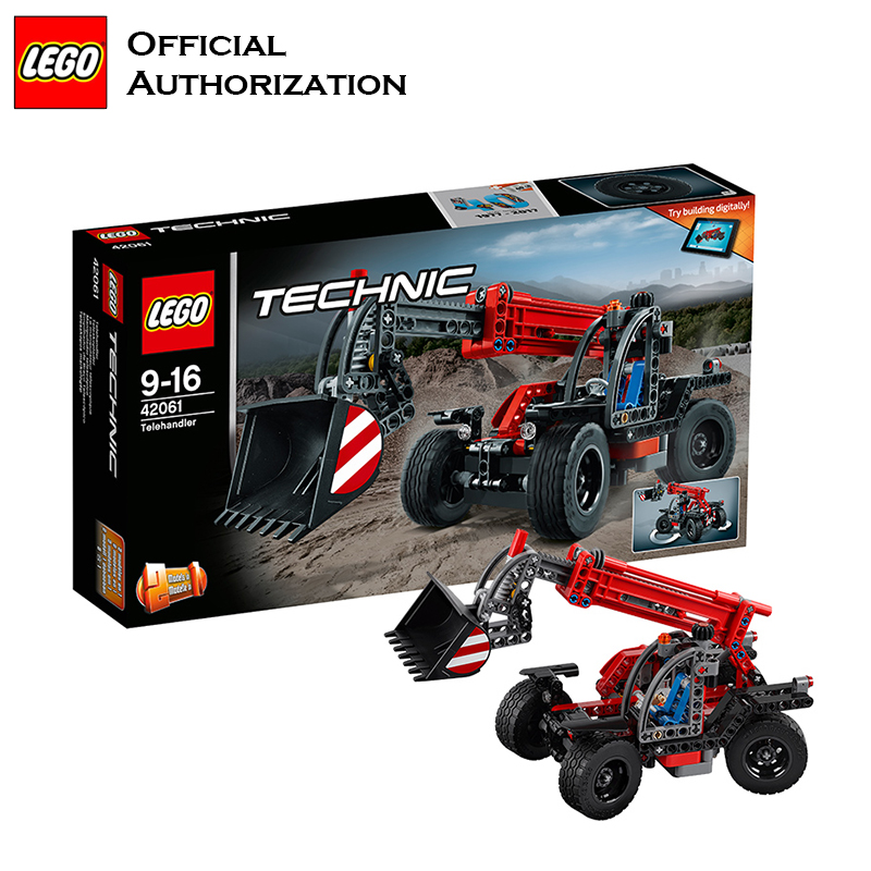 Technic Series Engineer Building Blocks <font><b>Lego</b></font> Brand Telehandler Car Different Shape Toy Multifunctional Blocks <font><b>42060</b></font> For Gift image