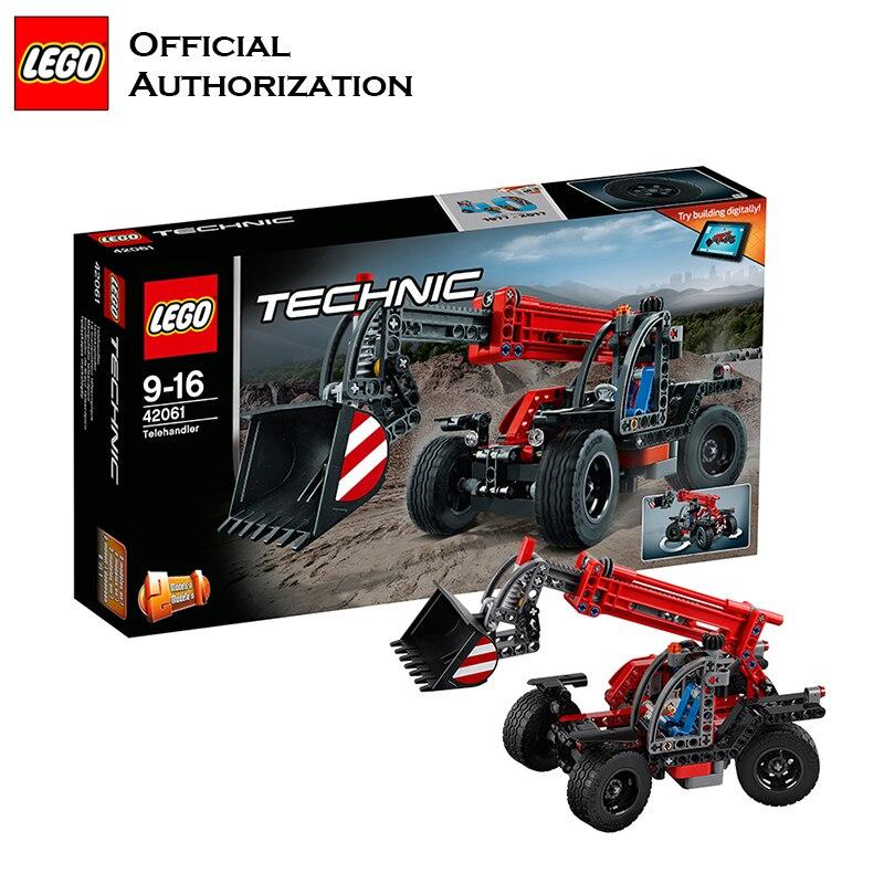 تكنيك سلسلة مهندس بناء كتل ليغو العلامة التجارية Telehandler سيارة مختلفة شكل لعبة متعددة الوظائف كتل 42060 ل هدية-في حواجز من الألعاب والهوايات على  مجموعة 1