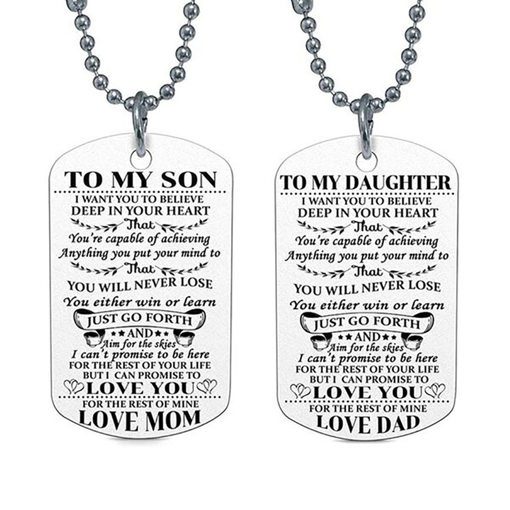To My DAD To My DAD DAUGHTER Pendant Engrave Letters